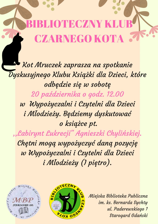 biblioteczny klub czarnego kota - labirynt lukrecji