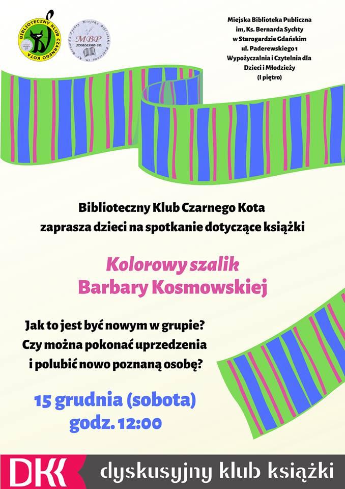 """""""Kolorowy szalik"""" Barbary Kosmowskiej"""