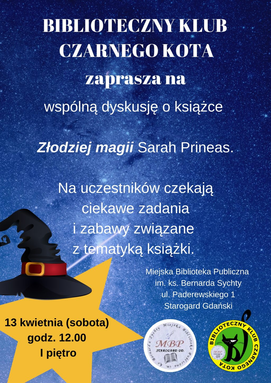 BIBLIOTECZNY KLUB CZARNEGO KOTA_Złodziej magii Sarah Prineas