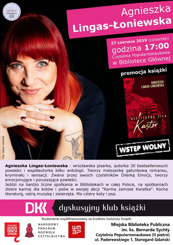 Agnieszka Lingas-Łoniewska - Spotkanie Dyskusyjnego Klubu Książki