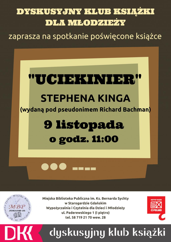 DKK dla młodzieży_Uciekinier Stephen King Richard Bachman