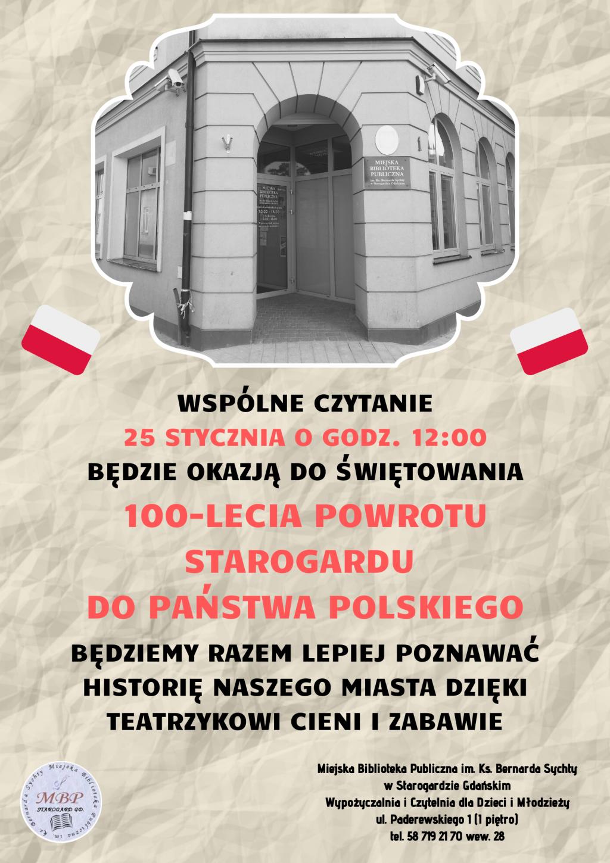 100-lecie powrotu Starogardu do Polski_styczeń 2020