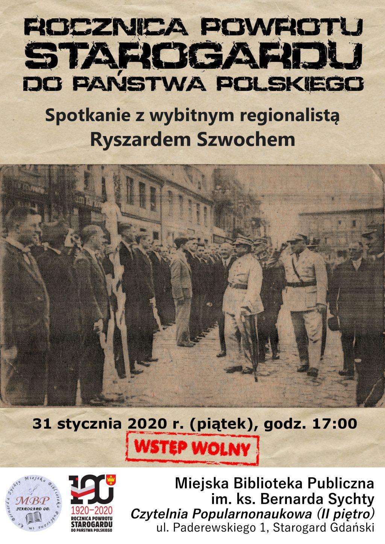 Setna rocznica powrotu Starogardu do Państwa Polskiego