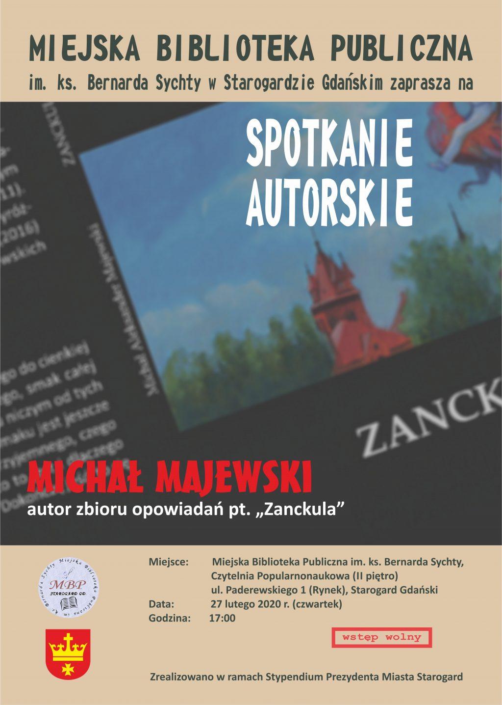 Spotkanie autorskie z Michałem Majewskim